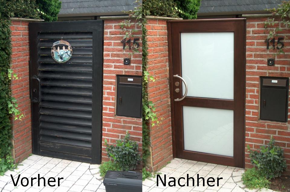 Tür Vorher-Nachher