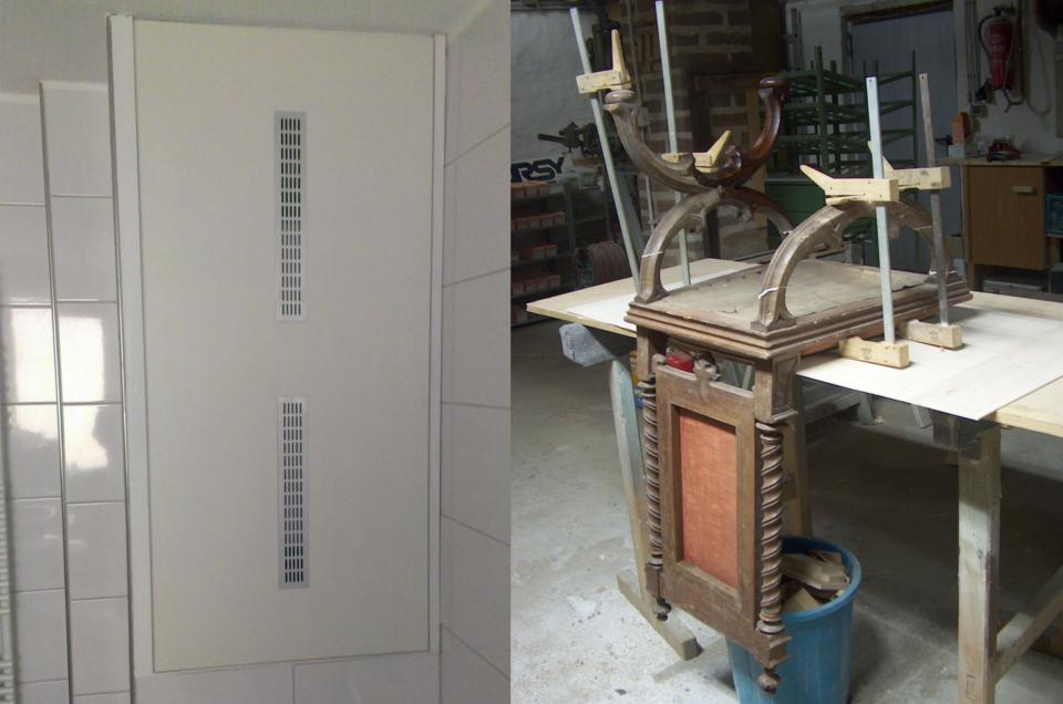 Sanierung Bad und Stuhl