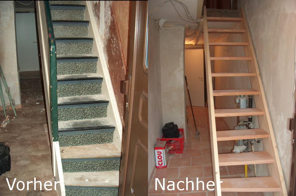 Neue Treppe aus Holz